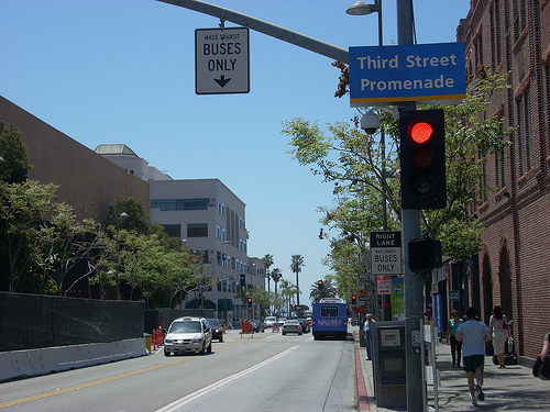 Bus-only lane, Broadway, Santa Monica