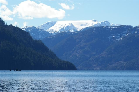 Comox Glacier over Comox Lake