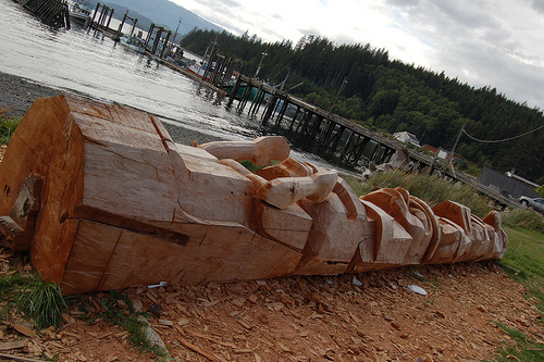 Carving the totem