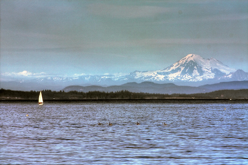 Mt. Baker from Willows Beach HDR